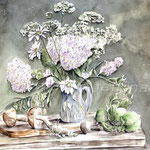 White-Bouquet-(4) / Watercolour 30x40cm / insp. Mara Sapego
