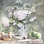 White-Bouquet-(7) / Watercolour 30x40cm / insp. Mara Sapego