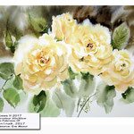 Roses II 2017 (O1) / Watercolour 20x30cm on Fabriano CP © janinaB. 2017