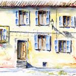 Hauswand (12) / Watercolour 24x32cm  ©janinaB.