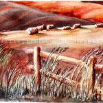 Landscape VII 2008 (O6) / Watercolour 15x22cm ©janinaB.
