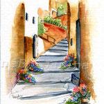 Boveglio-(O1) / Watercolour 17x22cm ©janinaB.