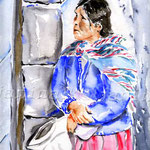 Quechua women (12) / Watercolour 24x32cm / insp. Leonid Plotkin