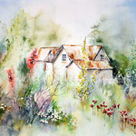 Borde hill Gardens (16) / Watercolour 24x34cm ©janinaB.