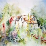 Borde hill Gardens (12) / Watercolour 24x34cm ©janinaB.