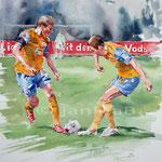 Eintracht Braunschweig / Aquarell auf Arches 30x40cm