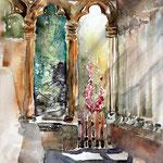 sonnige Arkaden (18) / Watercolour 27x35cm