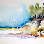 sea ​​landscape I 2012 (2) / Watercolour 24x34cm ©janinaB.
