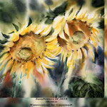 Sunflowers II 2018 / 30x40cm (22) / Watercolour by ©janinaB.