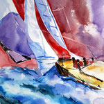 Donald Hamiltons Spinnaker (9) / Watercolour 26x34cm