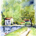 Haus am See (O6) / Watercolour 17x24cm © janinaB.