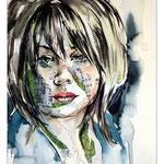 Jenn Lee / /Aquarell-Tusche-Collage