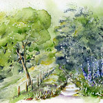 Landscape XI 2010 (O6) / Watercolour 18x25cm © janinaB.