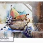 still life VII 2017 / Watercolour 30x40cm on Arches CP ©janinaB.2017 Photo source: flickr