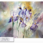 Irises I 2017 (17) / Watercolour 30x40cm on Arches CP © janinaB. 2017