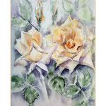 gelbe Rosen I 2013 (18) / Watercolour 24x34cm