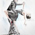 Tango (12) / Watercolour 30x40cm  / insp. Fabian Perez
