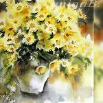 Flowers V 2018 (21) / 30x40cm Watercolour by ©janinaB.