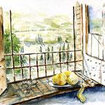 Landscape V 2010 (6) / Watercolour 30x40cm © janinaB. insp. von einem anderen Aquarell