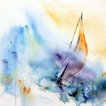 on the sea of emotions (12) / Watercolour 30x40cm