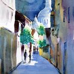 Sacre-Coeur-III / Watercolour sketch 27x35cm Fabriano Studio © janinaB. 2016