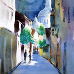Sacre-Coeur-III (16) / Watercolour sketch 27x35cm Fabriano Studio © janinaB. 2016