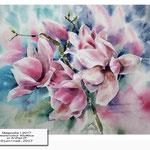 Magnolia I 2017 (17) / Watercolour 30x40cm on Arches CP © janinaB. 2017