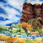 Felsen (3)/ Aquarell 30x40cm auf Arches
