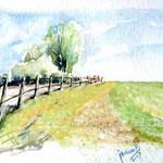 Landscape IX 2009 (O6) / Watercolour 12x17cm  ©janinaB.