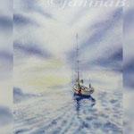 blue silence I 2018 (21) / 30x40cm Watercolour by ©janinaB.