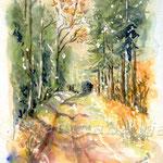 Landscape VI 2008 (O1) / Watercolour 15x20cm  ©janinaB.