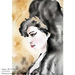 Amy W I 2018 (O5) / 15x23cm Watercolour by ©janinaB.