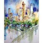 San Gimignano (2) / Watercolour 30x40cm