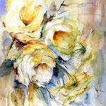 gelbe-Rosen-(18) / Watercolour 30x40cm / insp. Fabio Cembranelli