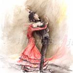 Spanische Romanze (16) / Watercolour 24x32cm