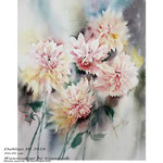 Dahlias III 2018  (20) / 30x40 cm Watercolour by ©janinaB.