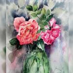 Roses VI 2018 (21) / 30x40cm Watercolour by ©janinaB.