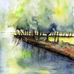 Landscape XII 2009 (O2) / Watercolour 18x24cm © janinaB.