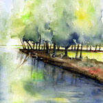 Landscape XII 2009 (O6) / Watercolour 18x24cm © janinaB.