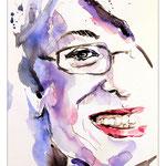 Jenny Sperry (O2) / Tusche und Aquarell auf Papier 15x21cm