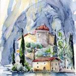Castello di Toblino (O2) / Watercolour 18x25cm © janinaB.