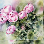 Roses XII 2018 (21) / 30x40cm Watercolour by ©janinaB.