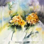 Dandelion III 2018 (O3) / 21x24cm on Paper Watercolour by ©janinaB.