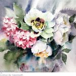 Flowers XVI 2018  (20) / 30x40cm Watercolour by ©janinaB.