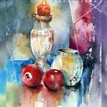 Still life X 2018 (O3) / 20x15cm Watercolour by ©janinaB.