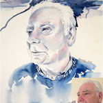Mick for JKPP / Watercolor 23x30,5cm Fabriano © janinaB. 2016