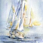 I am sailing (O6) / Watercolour 18x25cm  ©janinaB.