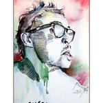 evgeny / Aquarell-Collage 17x24cm