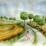 Michelle-(O2) / Watercolour 17x23cm