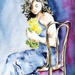 gelbe Rosen (16) / Watercolour 24x32cm